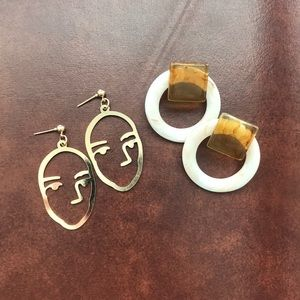 Jewelry - Two Pairs of Trendy Earrings 🔥
